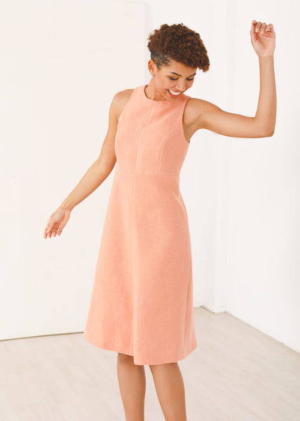 Flora - Halter dress in Coral