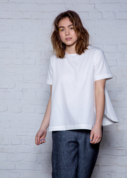 White organic cotton top