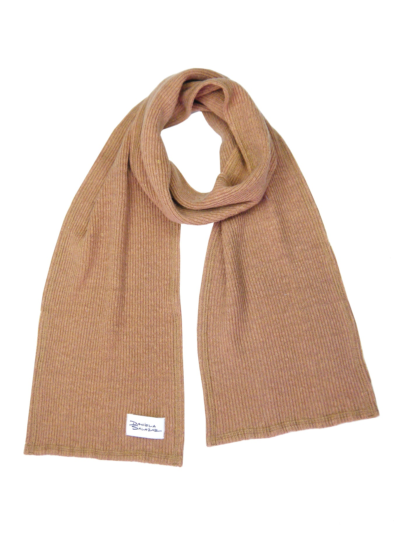 Ava - Hemp Scarf in Caramel Brown