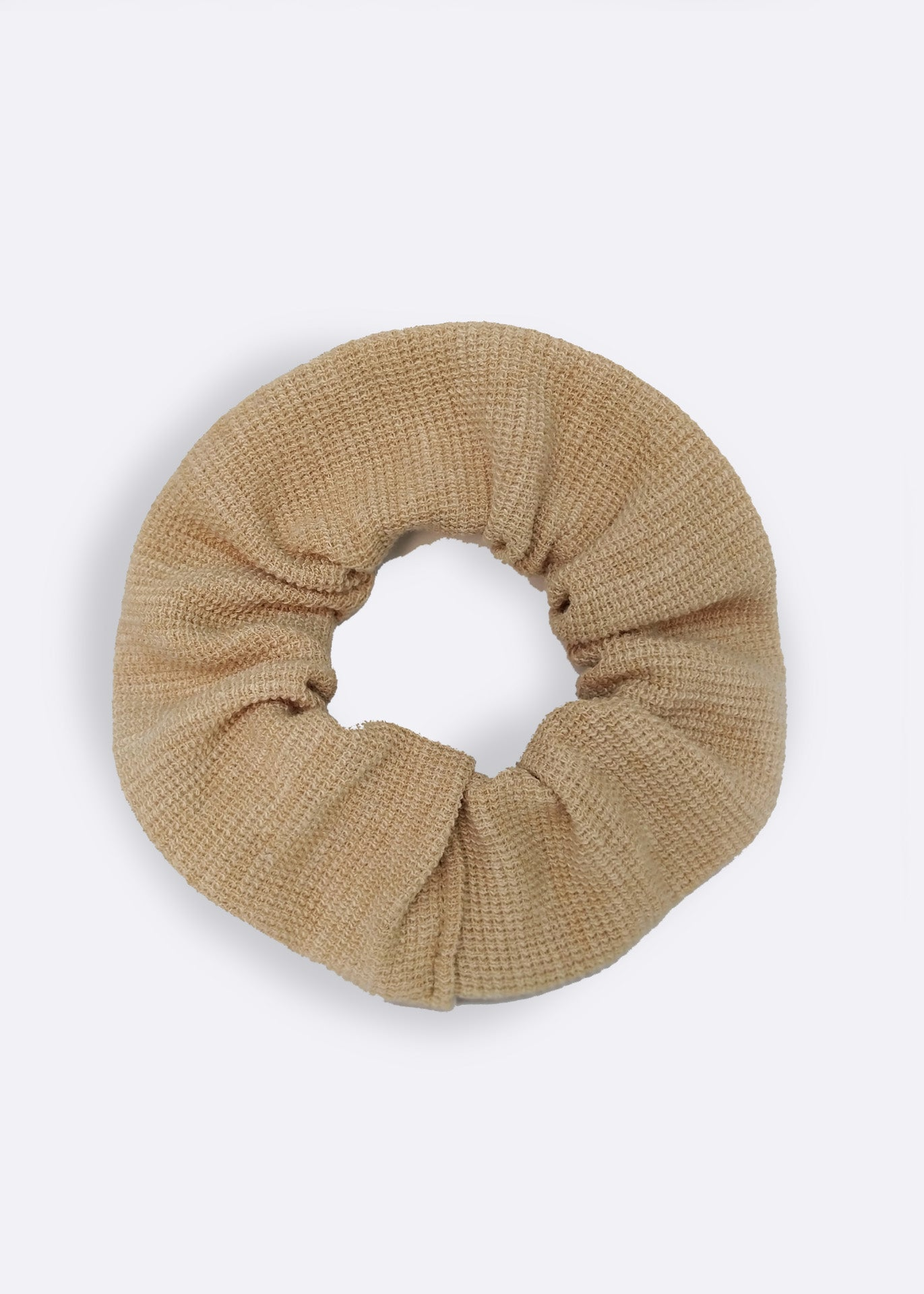 Camel Organic Cotton Scrunchie