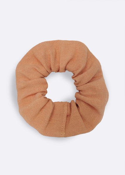 Coral Hemp Scrunchie