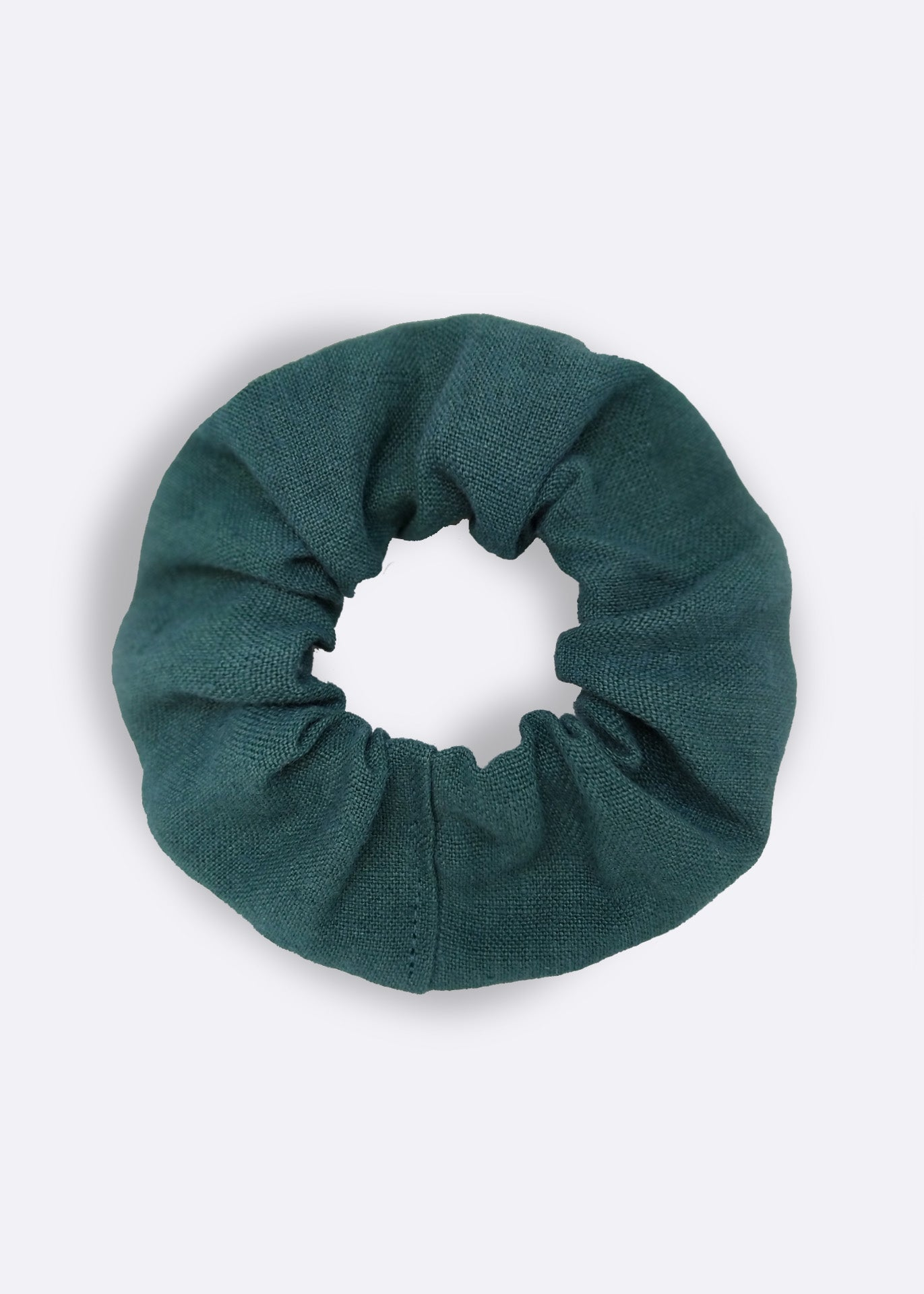 Forest Green Hemp Scrunchie
