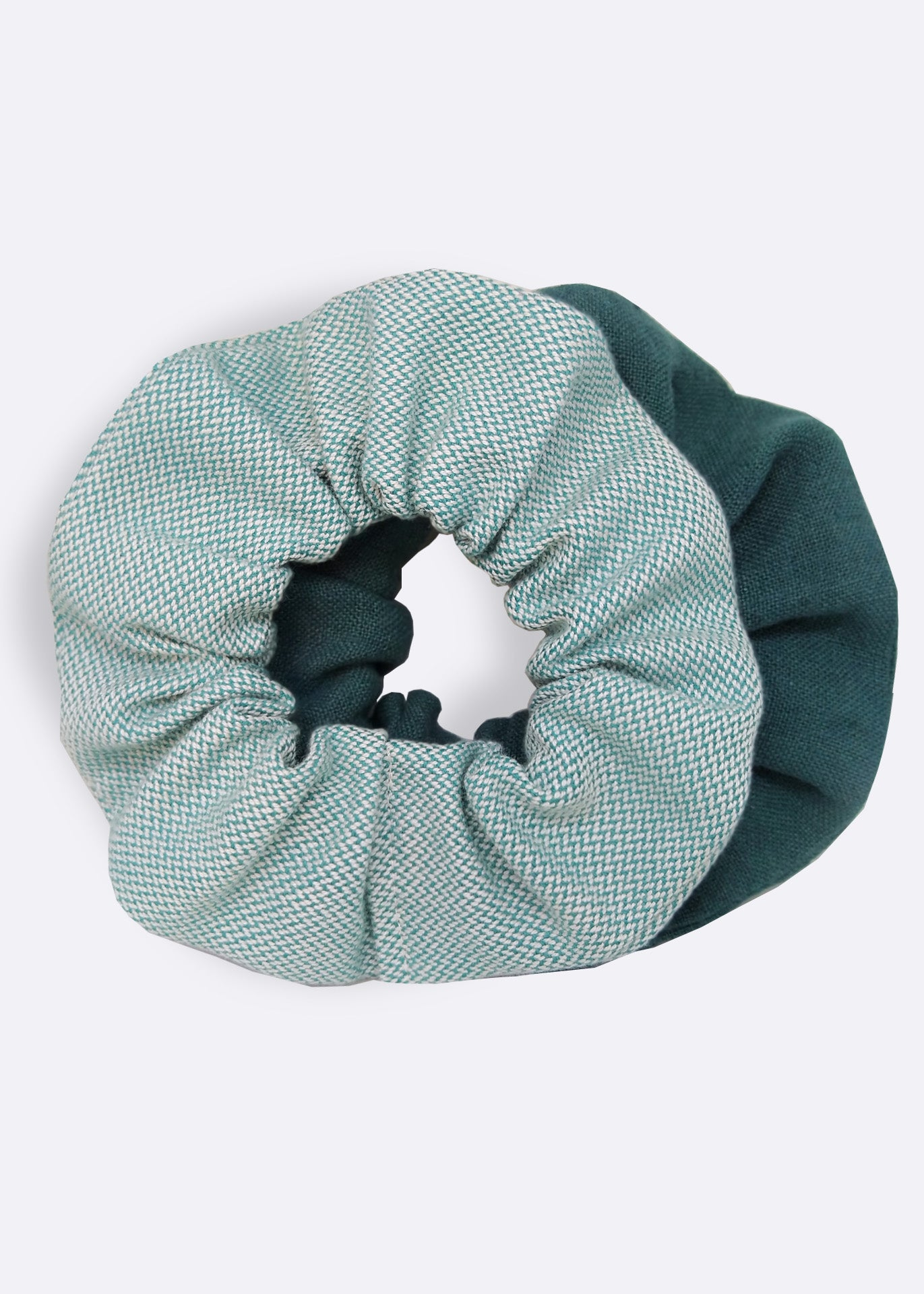 Green Organic Cotton Scrunchie