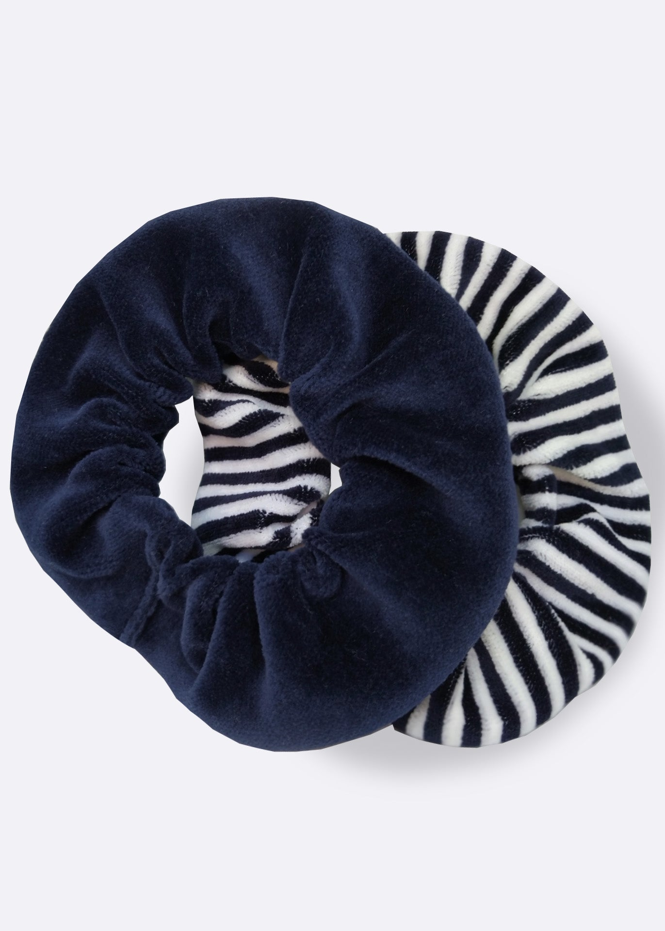 Striped Velour Scrunchie