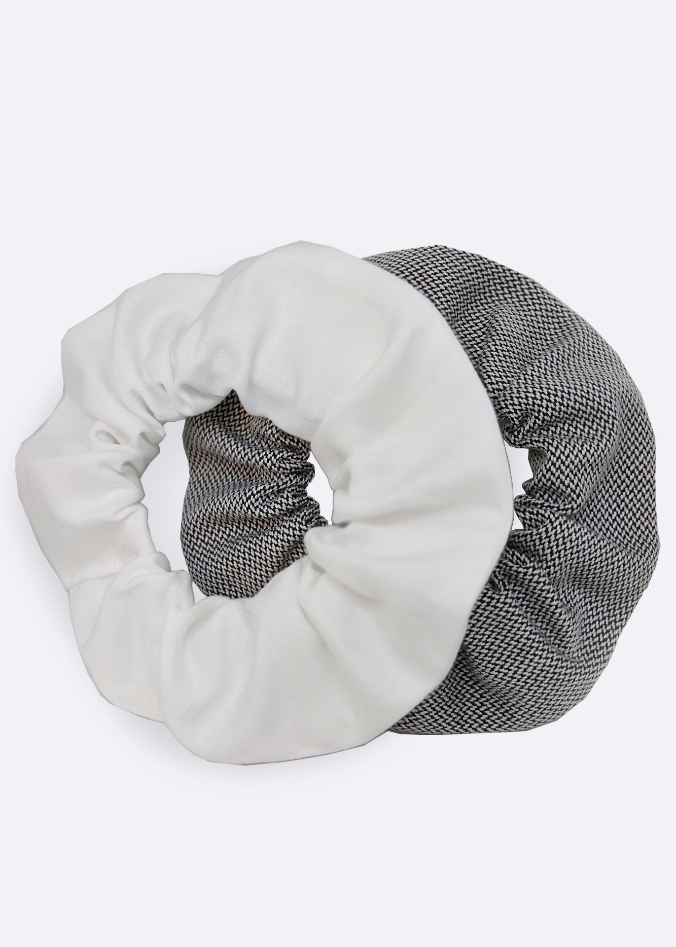 White Organic Cotton Scrunchie