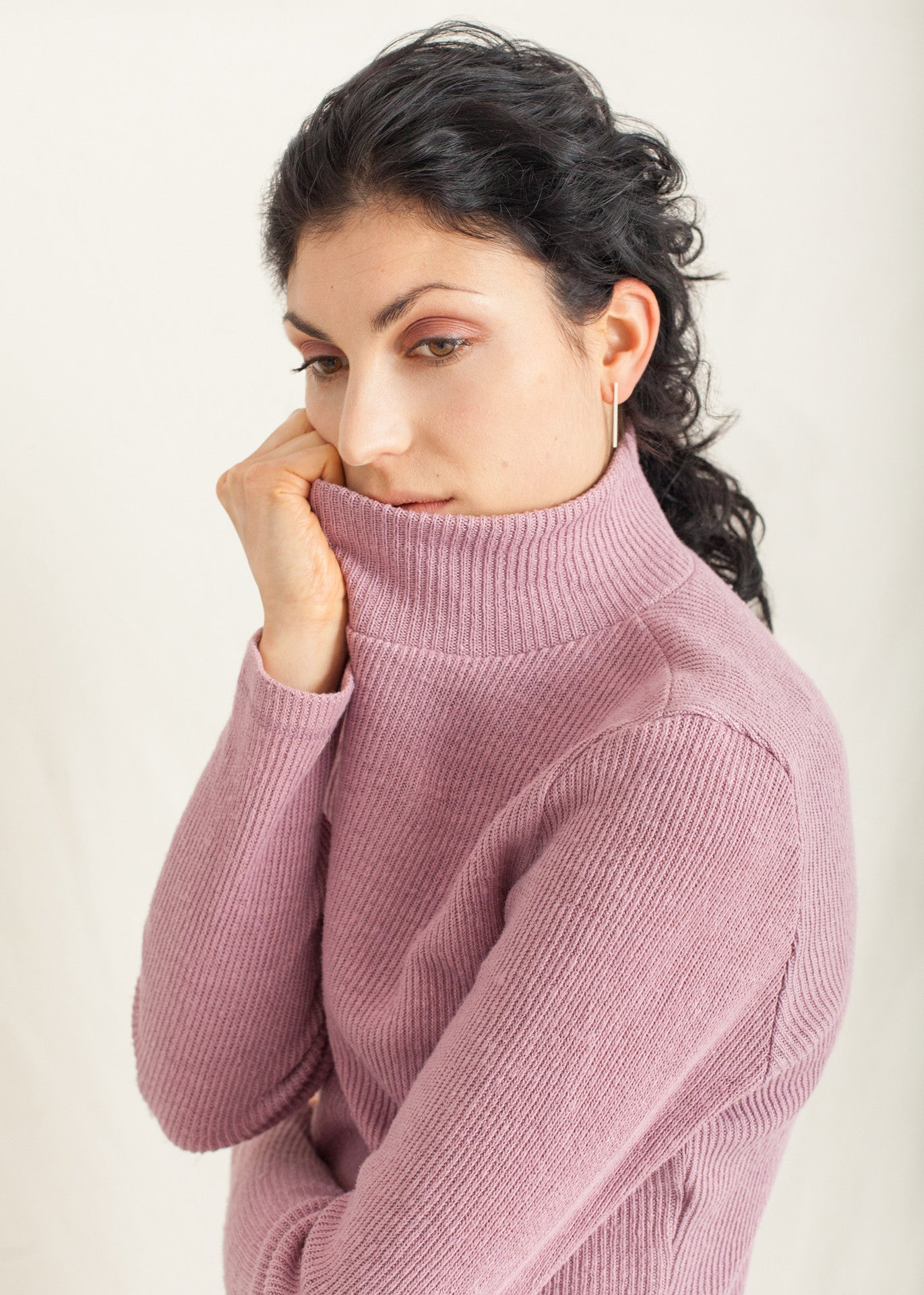 Park - Turtleneck Sweater in Pink