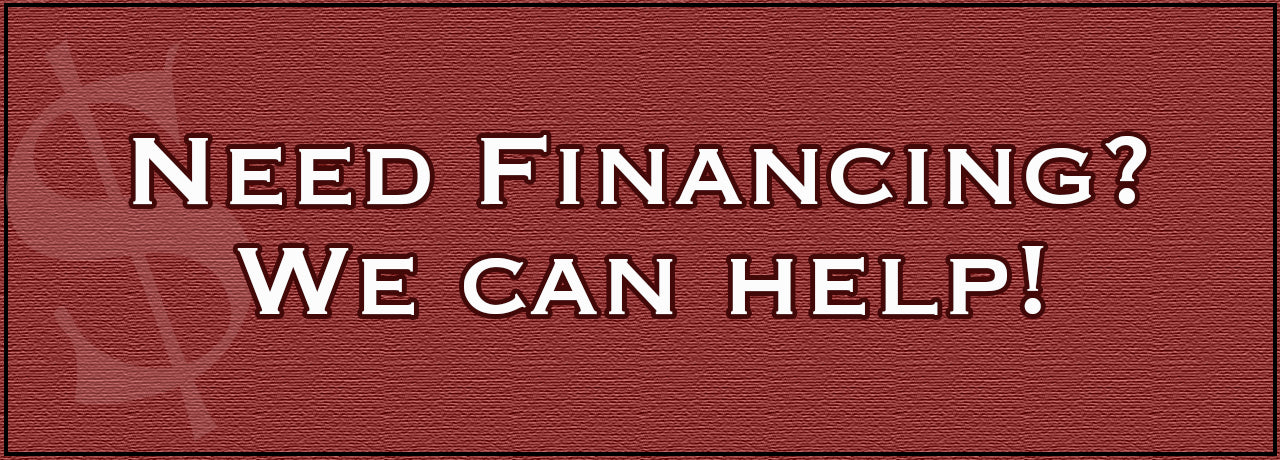 Need Financing? We Can Help!