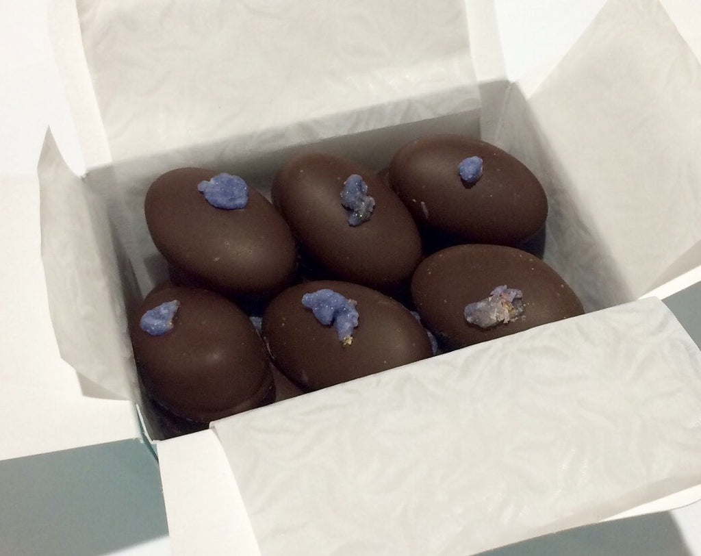 Parma Violet fondant cream chocolates