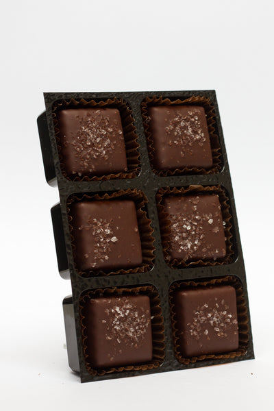 Caramel & Sea Salt in dark chocolate