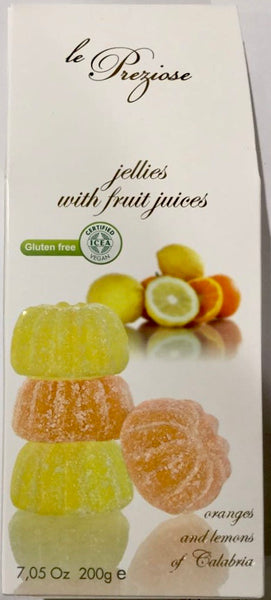 Le Preziose Italian jellies with fruit juice - Orange and Lemon