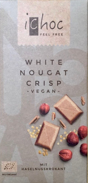Vegan Nougat 'milk' chocolate bar