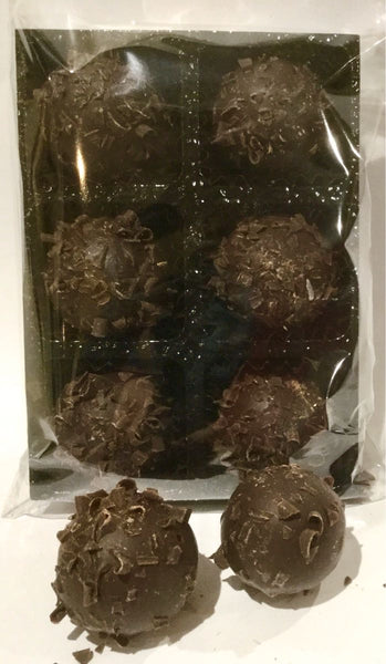 Rum truffles in dark chocolate