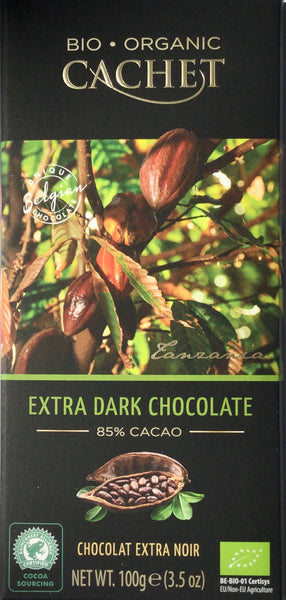 Cachet Extra Dark 85% chocolate bar