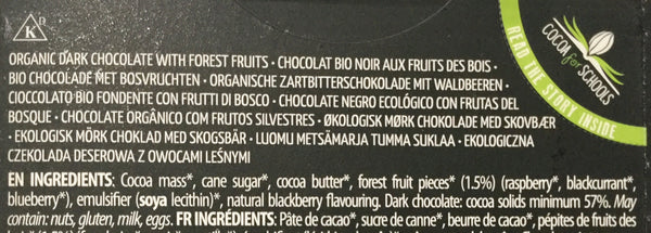 Cachet Forest Fruits dark chocolate bar