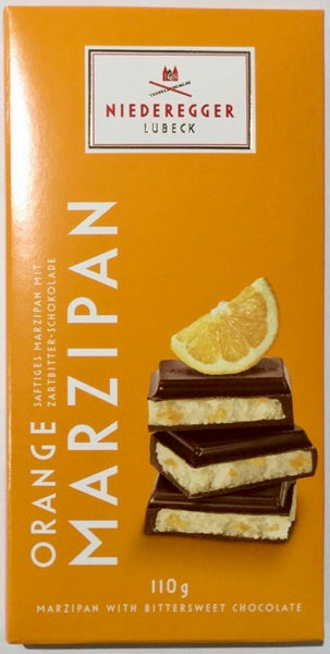 Niederegger marzipan in dark chocolate with orange zest 110g