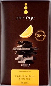 STEVIA chocolate bar - Dark chocolate with orange