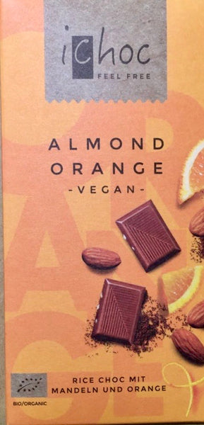 Vegan Almond Orange 'milk' chocolate bar