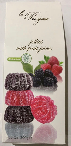 Le Preziose Italian jellies with fruit juice - Blackberry and Raspberry