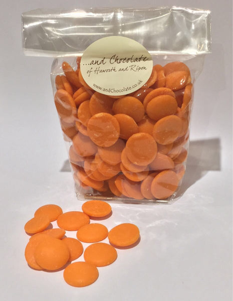 Orange chocolate buttons 150g