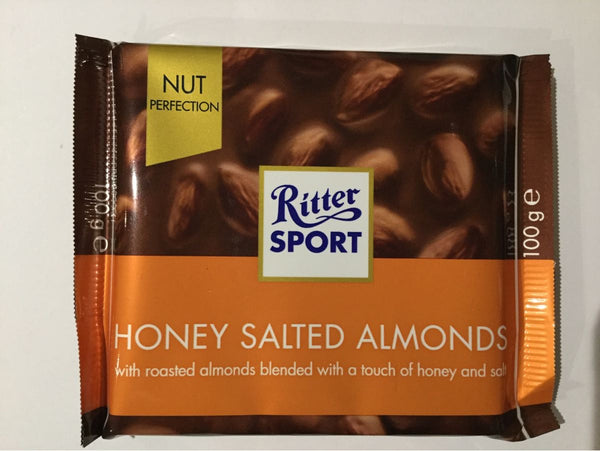 Ritter Sport Honey Salted Almonds chocolate bar 100g