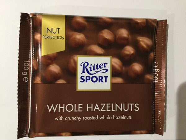 Ritter Sport Hazelnuts chocolate bar 100g (Best before 21st July)