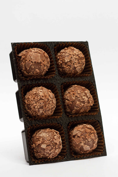 Rum truffles in milk chocolate