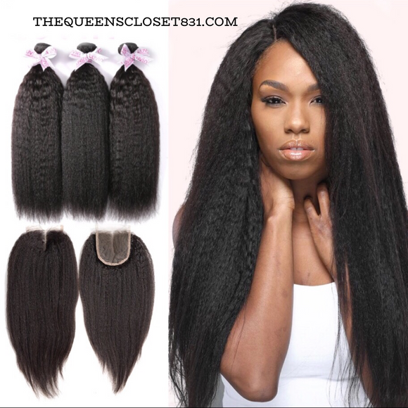 Kinky Straight Brazilian Bundle Hair
