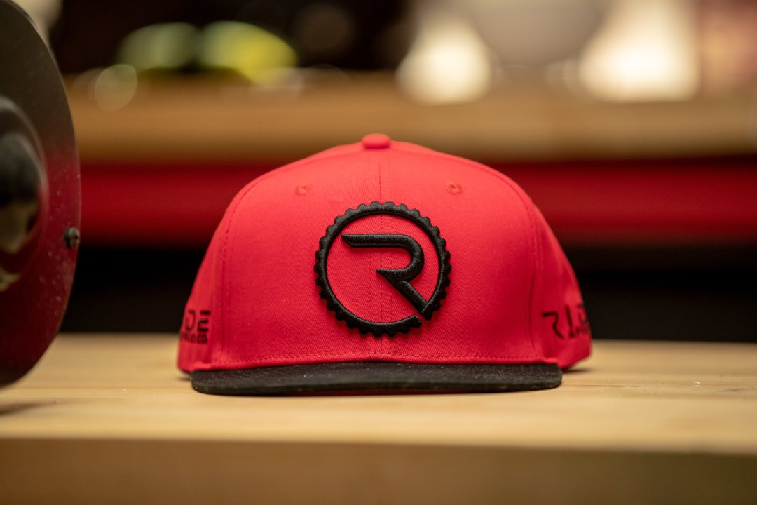 The Original Red Snapback Hat - Ride Apparel Co.