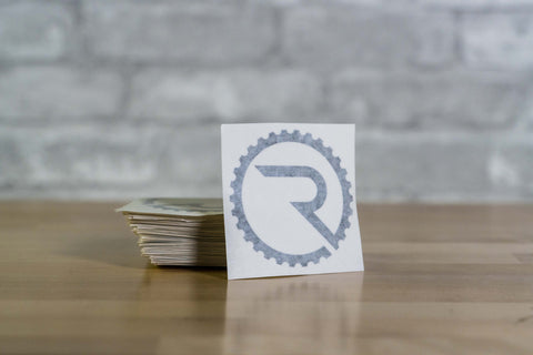 Geared R Decal - Black
