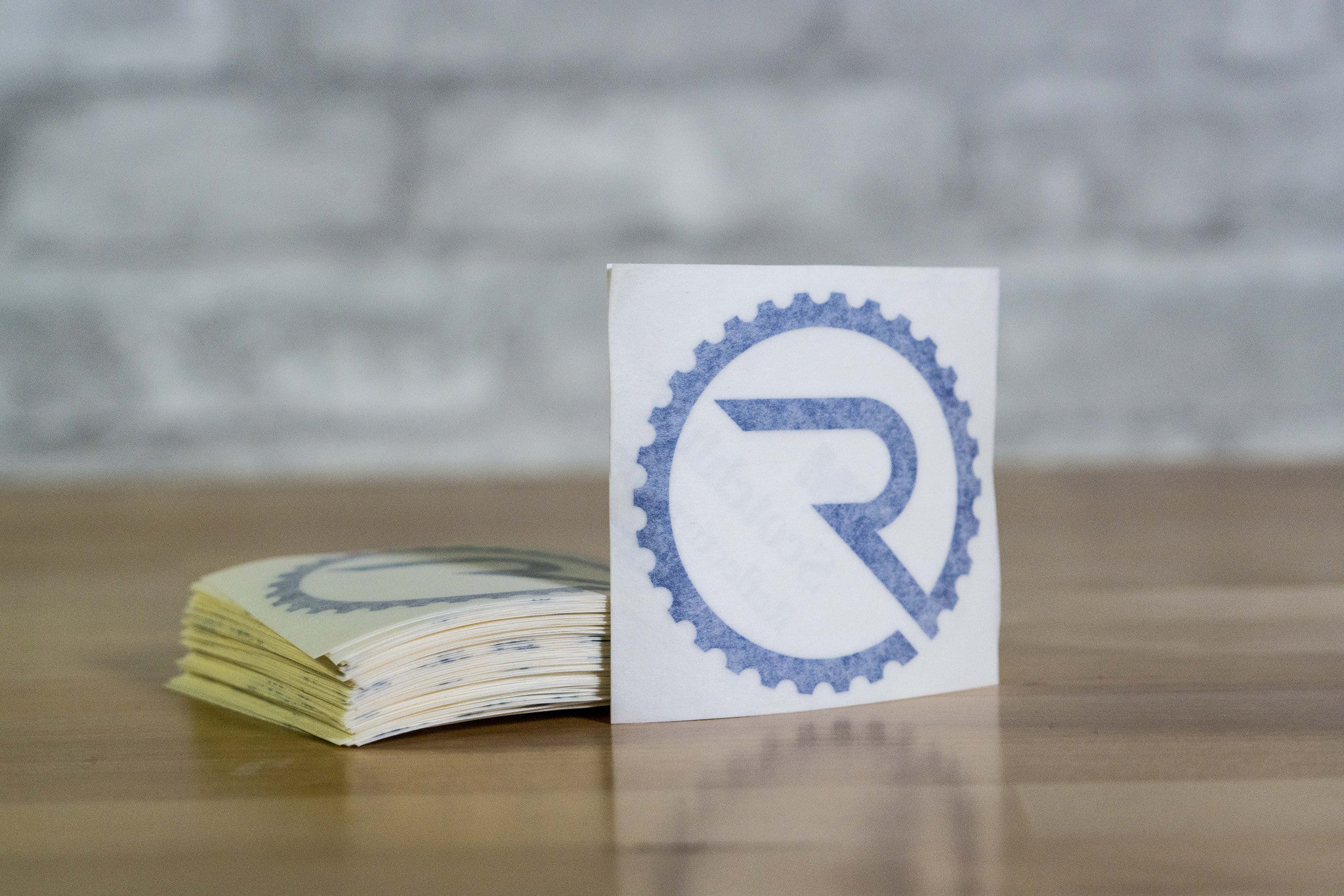 Geared R Decal - Reflective Blue - Ride Apparel Co.