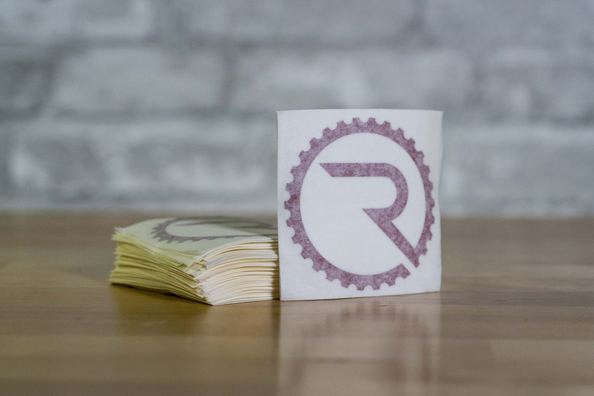 Geared R Decal - Reflective Red - Ride Apparel Co.