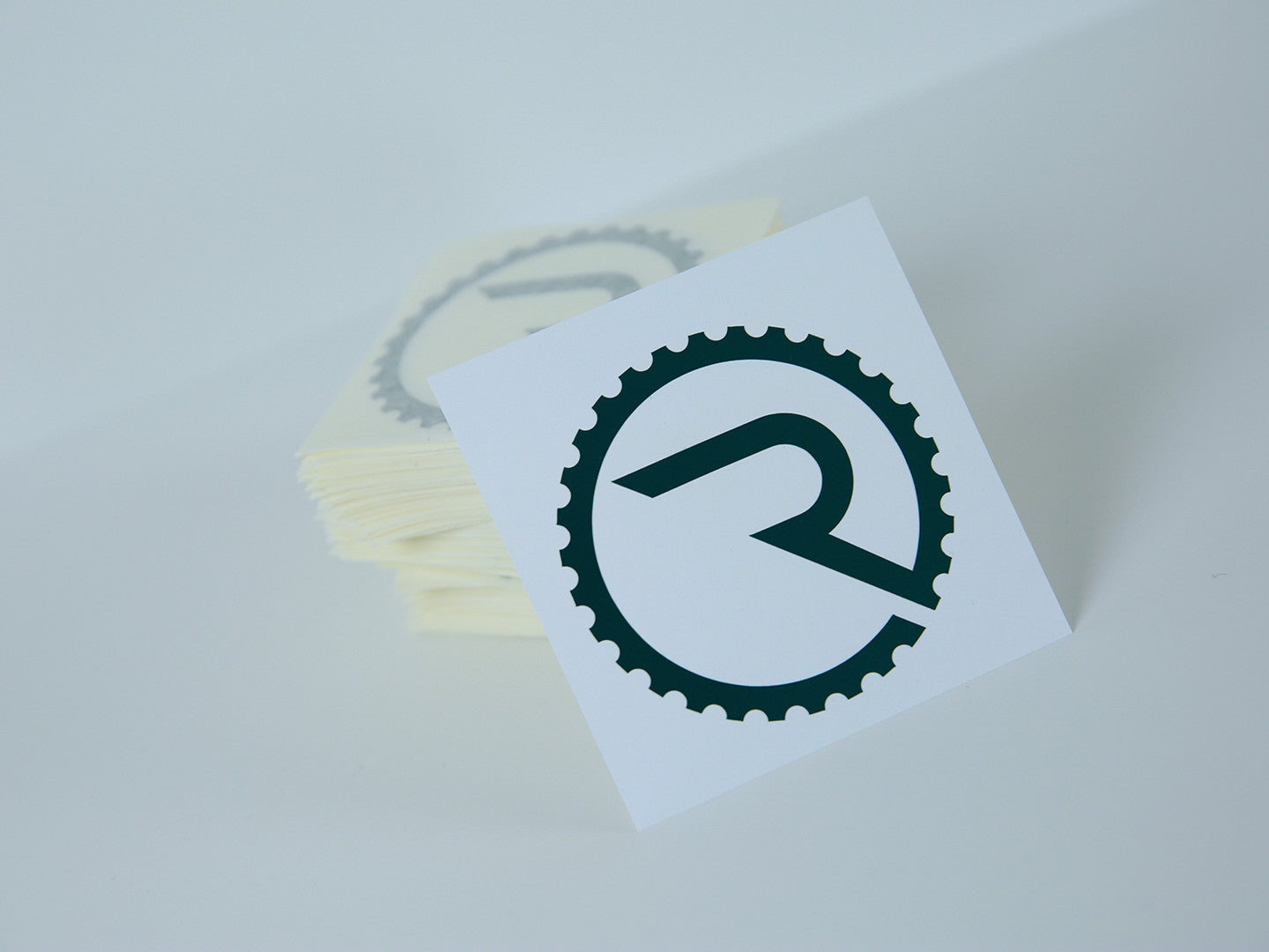 Geared R Decal - Reflective Green - Ride Apparel Co.