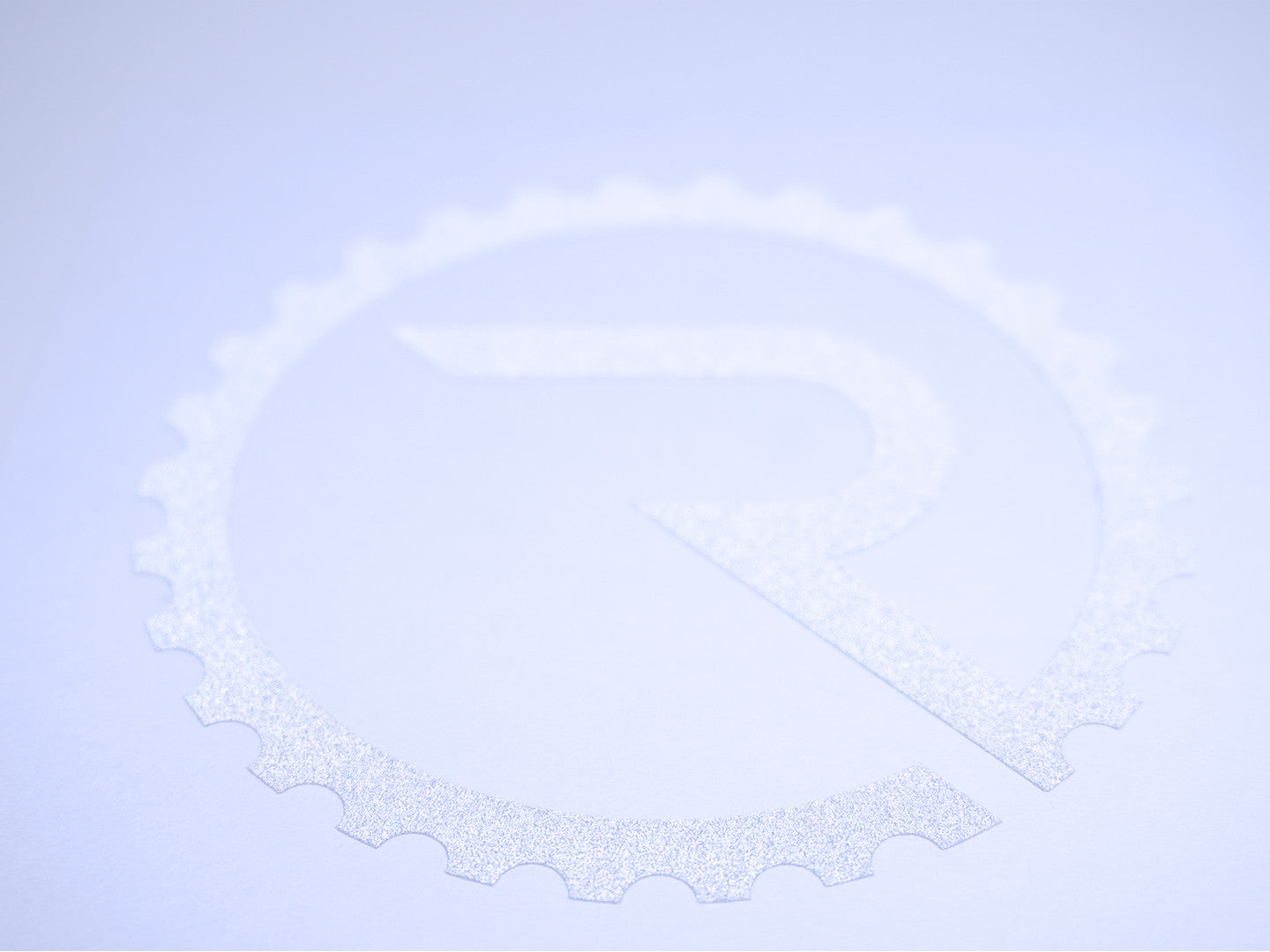 Geared R Decal - Reflective White - Ride Apparel Co.
