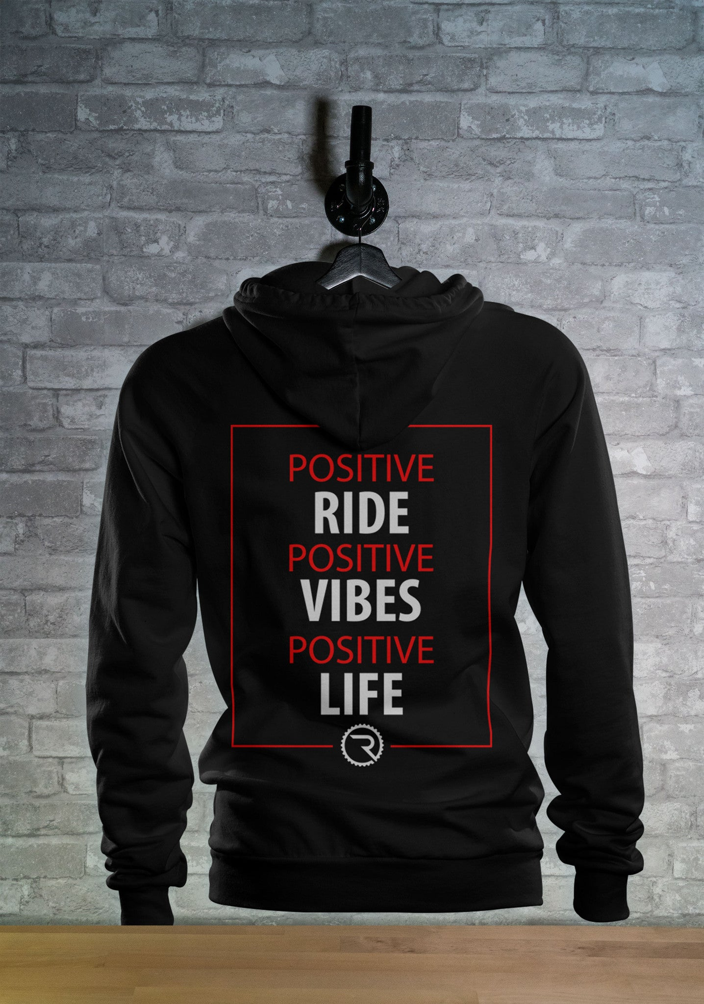 Positivity Over Everything Hoodie - Ride Apparel Co.