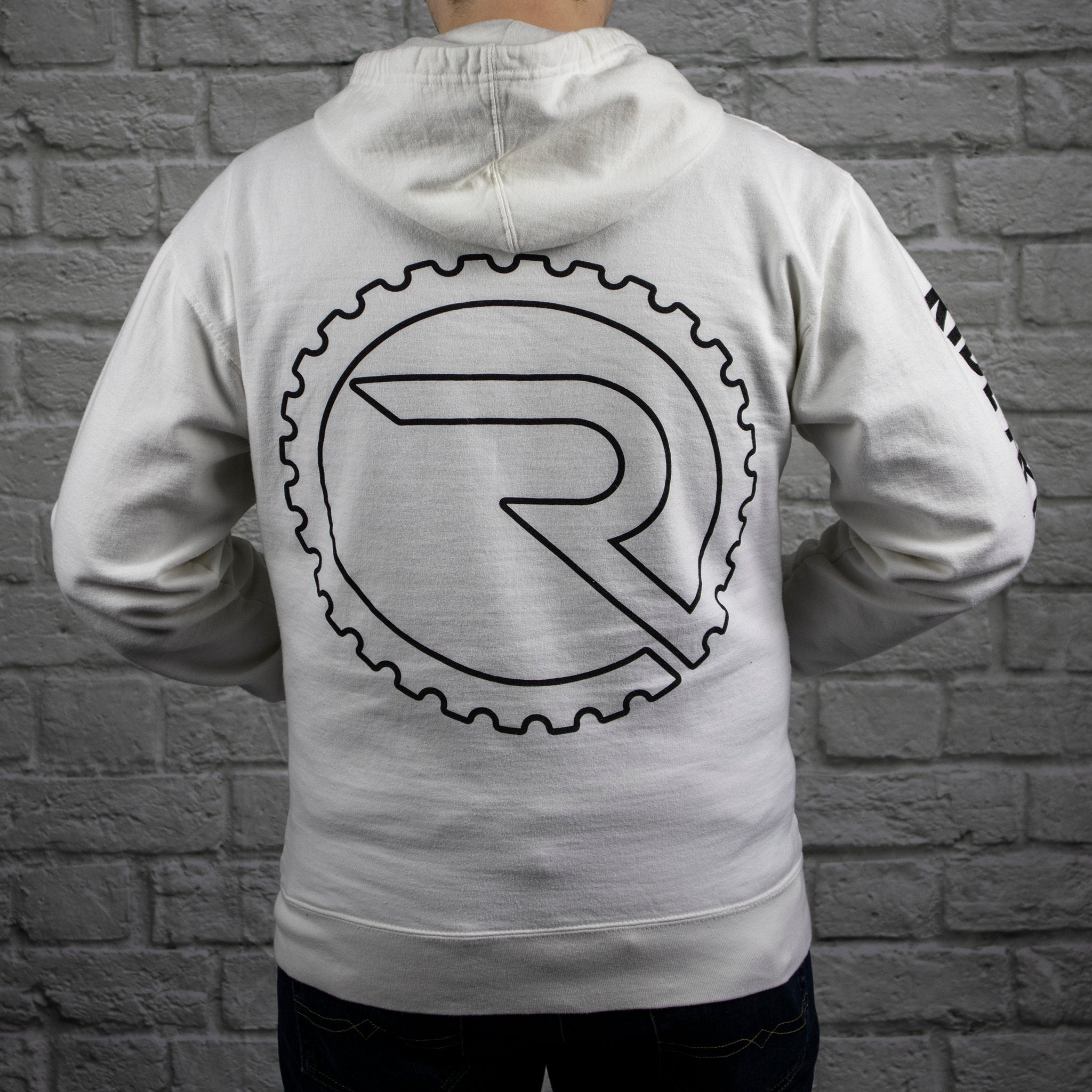 Insignia Zip Hoodie - White - Ride Apparel Co.