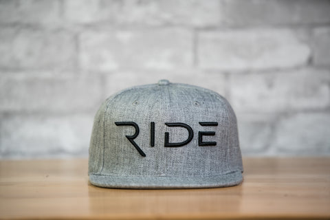 RIDE Snapback Hat - Grey