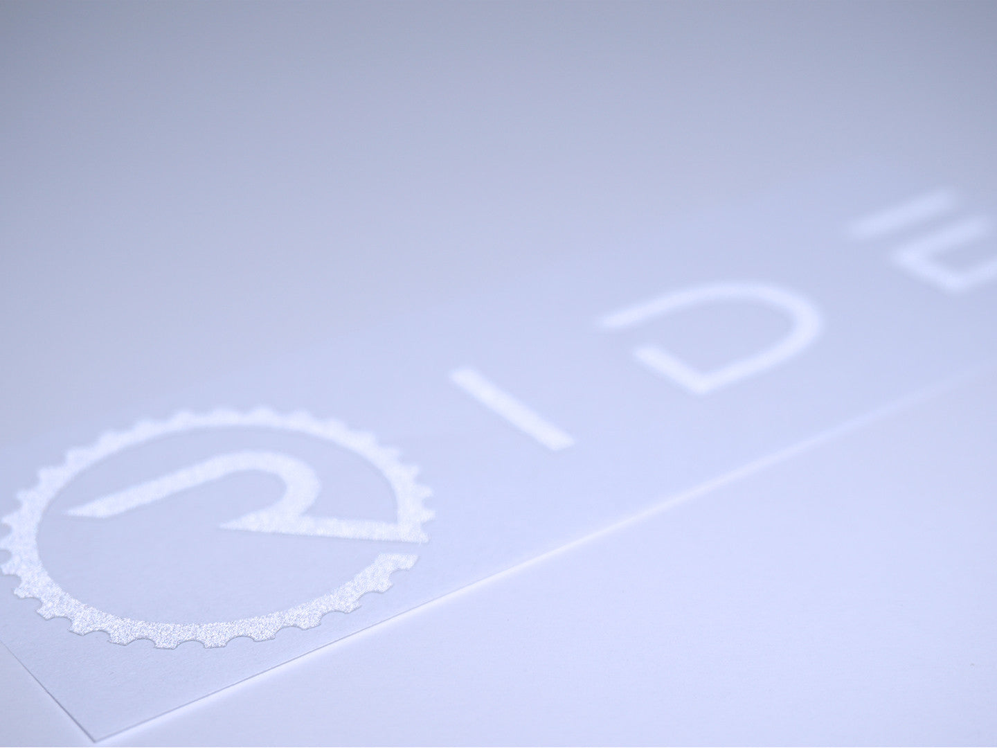 Ride Decal - Reflective White - Ride Apparel Co.