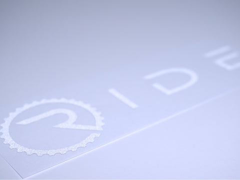 Ride Decal - Reflective White