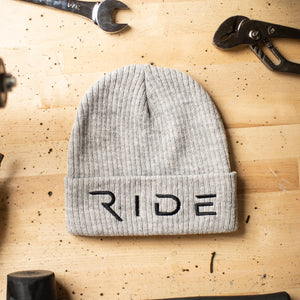 RIDE GREY Beanie - Ride Apparel Co.