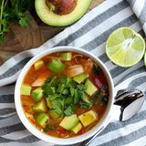 "Crockpot Chicken, Avocado and Lime Soup healthy whole30 paleo glutenfree Recipost Reciposter ""Dallas Food Blogger"" ""The Defined Dish"""