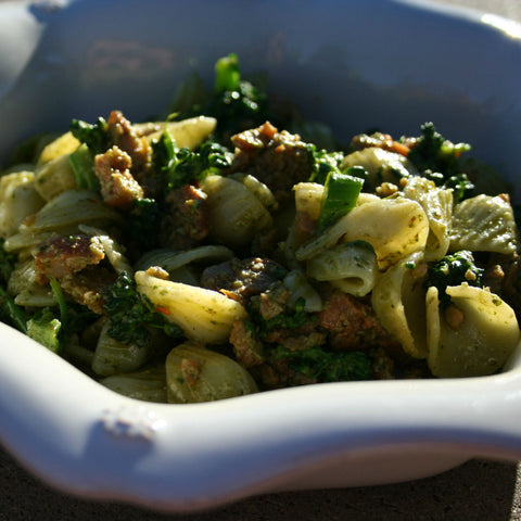 "Pecan Pesto Pasta with Kale Salad Recipost Reciposter ""The Wife with a Knife"" ""foodblogger"""