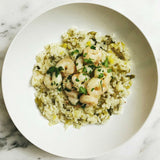 "Leeks Risotto With Garlic Butter Shrimp ""Rye and Butter"" Recipost"