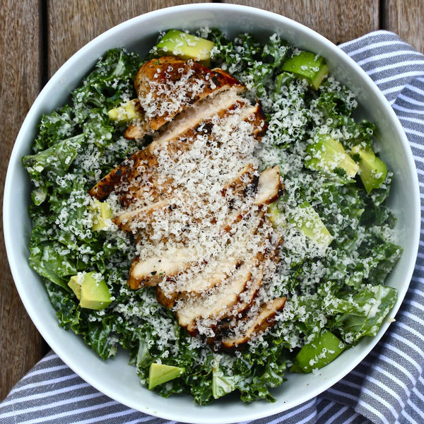 "Kale Chicken Caesar Salad The defined dish ""Dallas Blogger"" Recipost Reciposter whole30 healthy dinner"