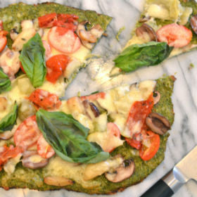 "Provencal Broccoli Crust Pizza ""Food Life Love"" Recipost vegetarian ""healthyrecipe"""