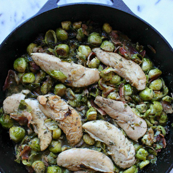 Ranch chicken brussel sprouts and bacon skillet recipost for Chicken and brussel sprouts skillet