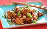 Kung Pao Chicken Spicy stir fry peanuts Chinese food asian food Houston food blogger