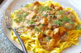"Chicken Stroganoff russian eggs mushrooms noodles houston food blogger recipost ""Method to my Meals"""