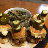 Pulled Pork Sliders with Pork Infused Green Beans