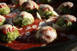 "Chicken Parmesan Meatballs with Crispy Broccoli Recipost Reciposter ""The wife with a knife"" Food blogger"