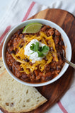 "Black Bean and Barley Chili with Braided Swiss Sunday Bread ""Sourdough Sunday"""
